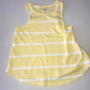Yellow and white swing tank top 2t